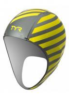 Шапочка неопреновая для плавания в холодной воде TYR Hi-Vis Neoprene Swim Cap